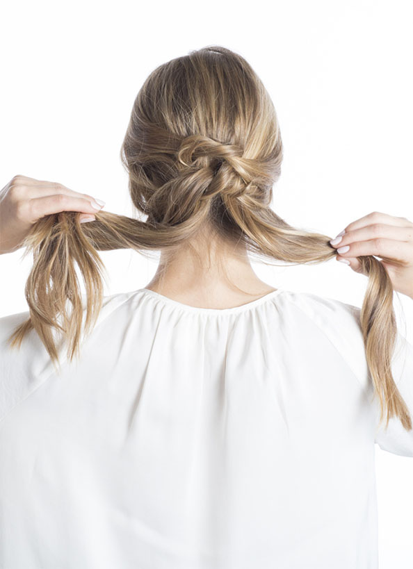 Day 3 - Knotted Up-Do | Step 1: Knot